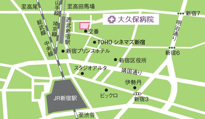 大久保病院MAP