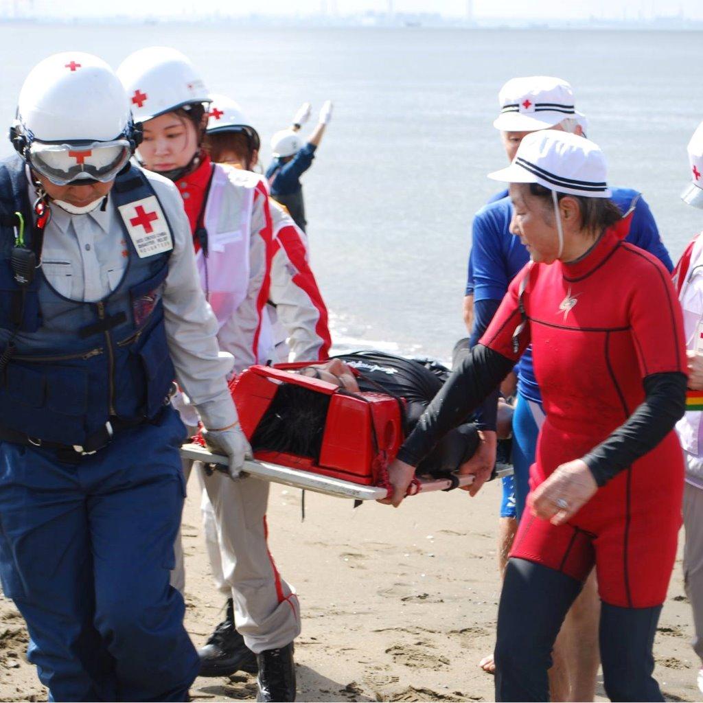 水難事故救護訓練②