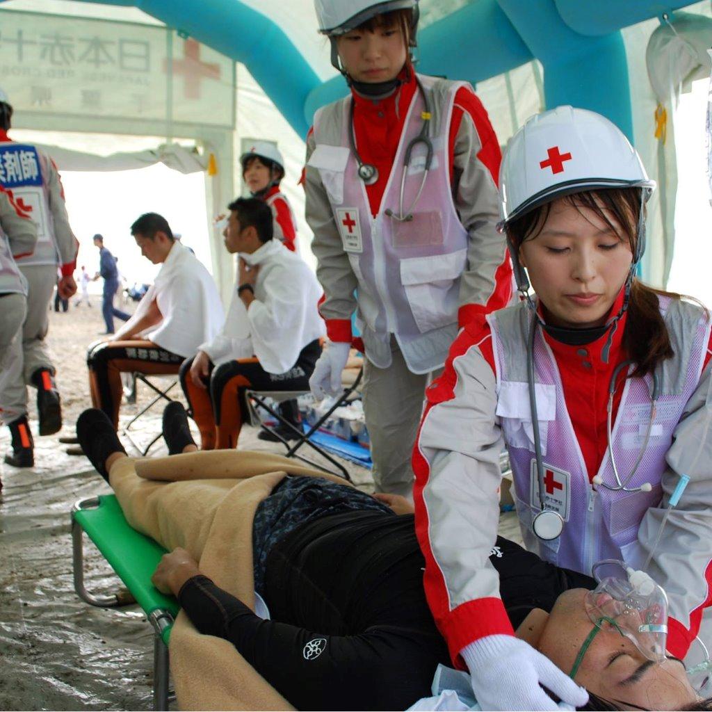 災害救護訓練②